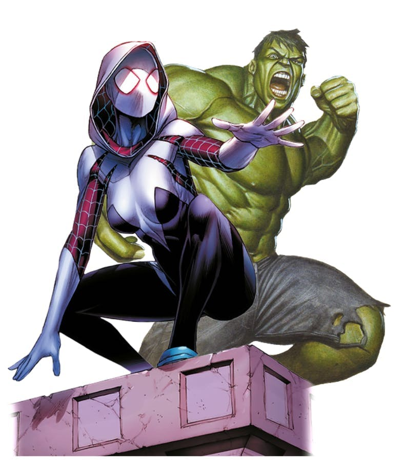 Splendor Marvel - Spider Gwen et Hulk