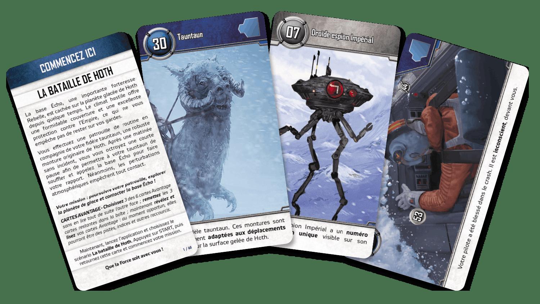 Unlock! Star Wars - Cartes du jeu «La bataille de Hoth»