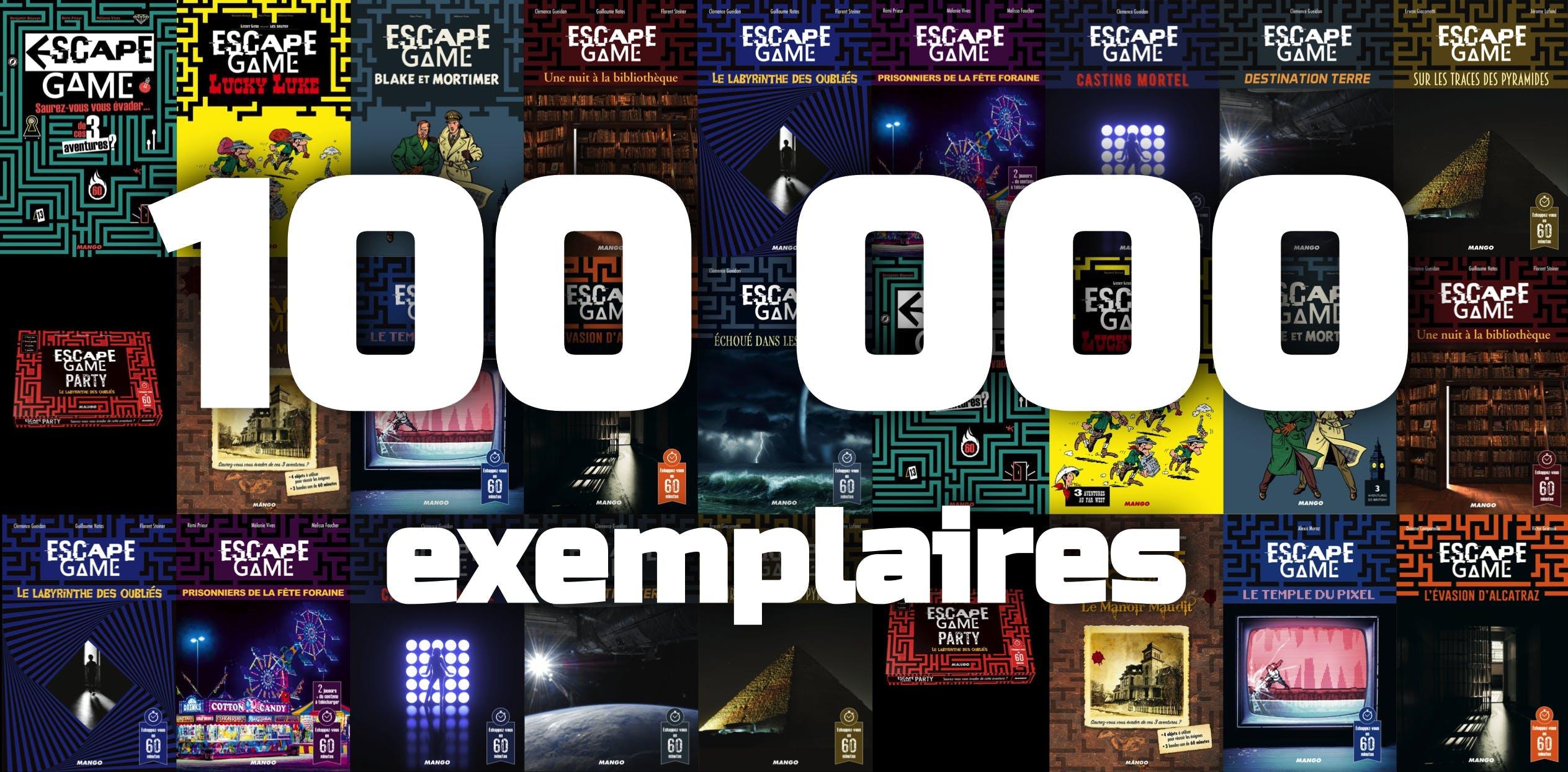 Escape Game Livre 100 000 exemplaires