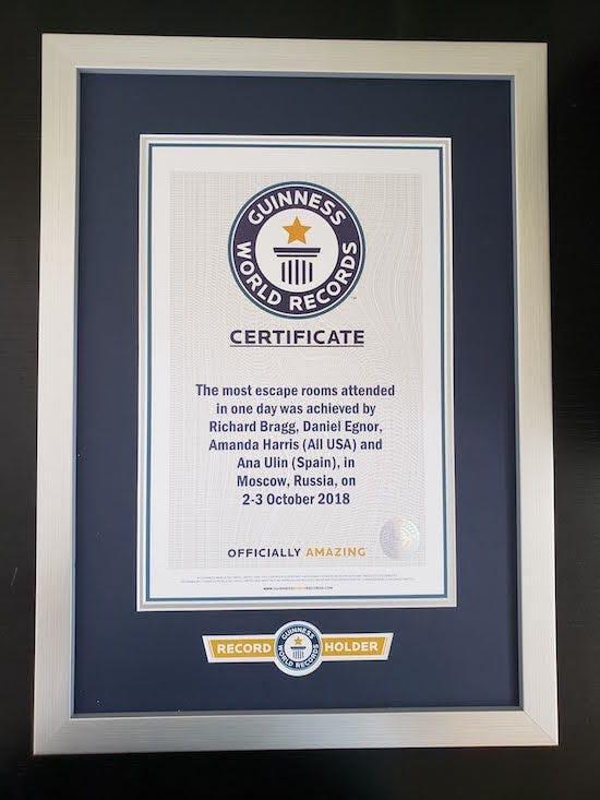 Diplôme du Guinness des records