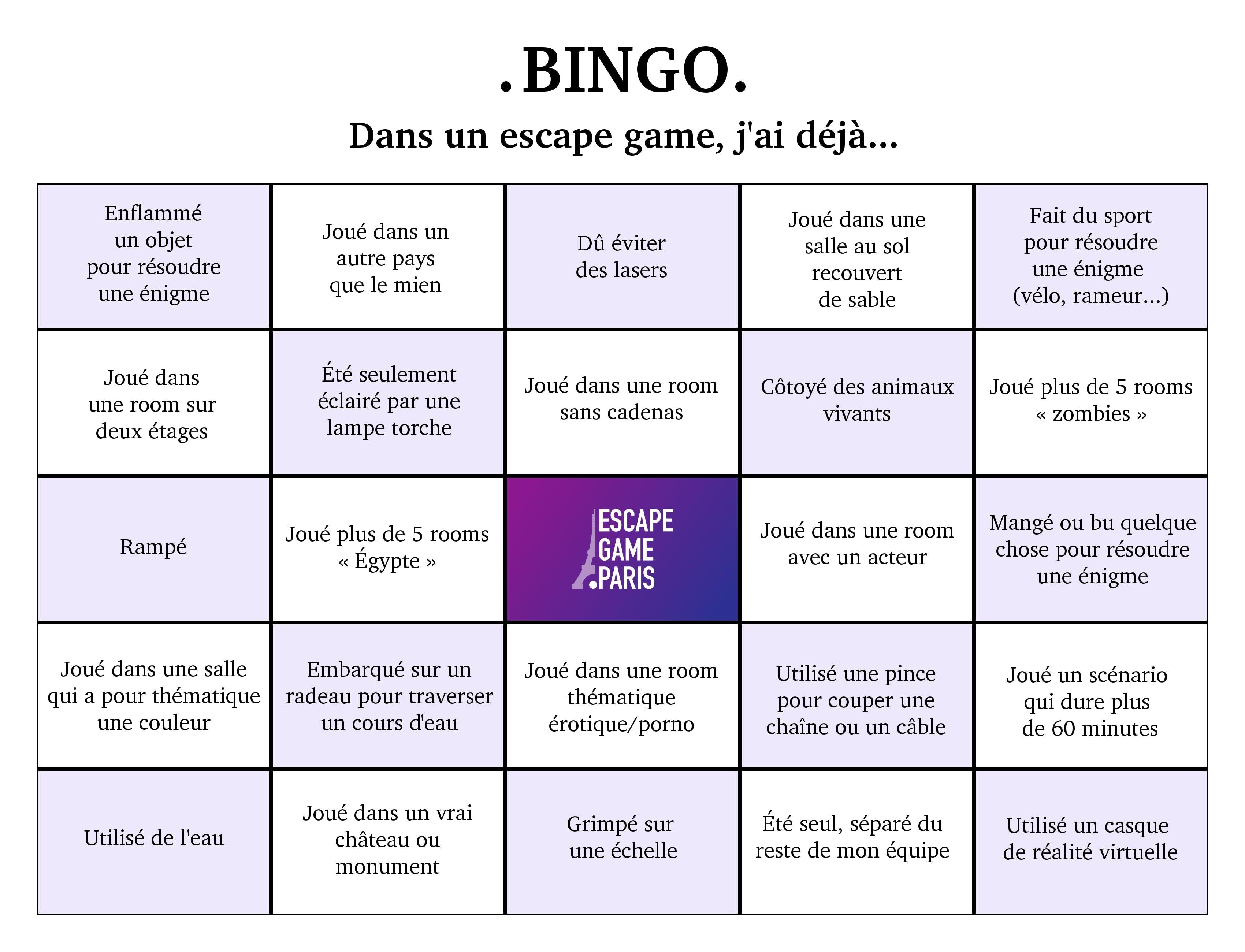 Bingo EscapeGame•fr
