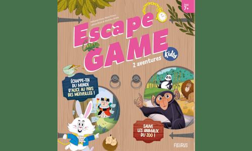 Escape Game Kids : 2 aventures (Sauve les animaux du zoo !, Échappe-toi du monde d'Alice au pays des merveilles!)